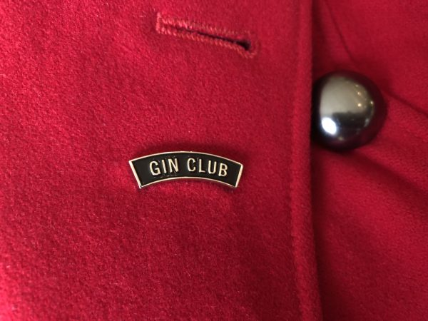 Gin Club Lapel Pin red